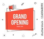 grand opening banner flyer... | Shutterstock .eps vector #1160068090