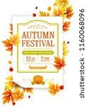 autumn thanksgiving festival.... | Shutterstock .eps vector #1160068096