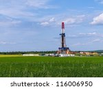 shale gas drilling in the... | Shutterstock . vector #116006950
