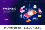 hacker attack and web security...   Shutterstock .eps vector #1160071660