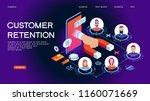 customer retention  customer... | Shutterstock .eps vector #1160071669