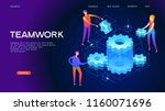page template of teamwork.... | Shutterstock .eps vector #1160071696