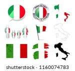 large set of italy infographics ... | Shutterstock .eps vector #1160074783