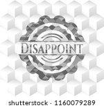 disappoint grey emblem with...   Shutterstock .eps vector #1160079289