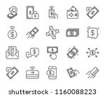 payment line icons. set of... | Shutterstock .eps vector #1160088223