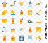 set of 25 transparent icons... | Shutterstock .eps vector #1160088463