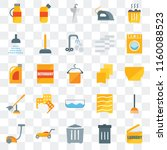 set of 25 transparent icons... | Shutterstock .eps vector #1160088523