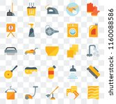 set of 25 transparent icons... | Shutterstock .eps vector #1160088586