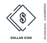 dollar icon vector isolated on... | Shutterstock .eps vector #1160089003