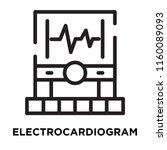 electrocardiogram icon vector... | Shutterstock .eps vector #1160089093