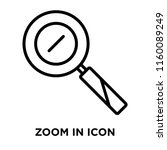 zoom in icon vector isolated on ...   Shutterstock .eps vector #1160089249