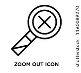 zoom out icon vector isolated...   Shutterstock .eps vector #1160089270