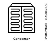 condenser icon vector isolated... | Shutterstock .eps vector #1160089273