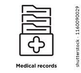 medical records icon vector...   Shutterstock .eps vector #1160090029
