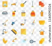 set of 25 transparent icons... | Shutterstock .eps vector #1160090326