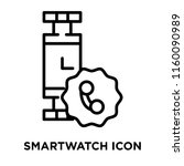 smartwatch icon vector isolated ... | Shutterstock .eps vector #1160090989
