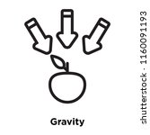 gravity icon vector isolated on ... | Shutterstock .eps vector #1160091193