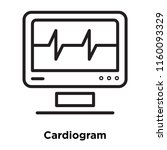 cardiogram icon vector isolated ... | Shutterstock .eps vector #1160093329