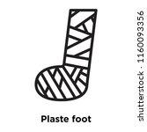 plastered foot icon vector... | Shutterstock .eps vector #1160093356