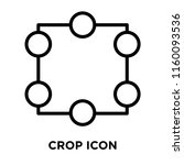 crop icon vector isolated on... | Shutterstock .eps vector #1160093536