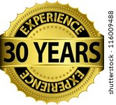30 Years Experience Golden...