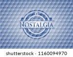 nostalgia blue badge with... | Shutterstock .eps vector #1160094970