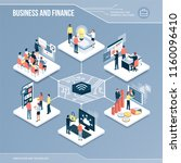 digital core  business  finance ... | Shutterstock .eps vector #1160096410
