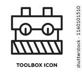 toolbox icon vector isolated on ... | Shutterstock .eps vector #1160101510