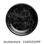black marble plate  empty... | Shutterstock . vector #1160101699