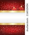red christmas sparkle... | Shutterstock .eps vector #116010454