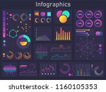 infographics diagram  chart and ... | Shutterstock .eps vector #1160105353