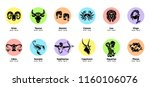 the 12 zodiac signs. vector... | Shutterstock .eps vector #1160106076