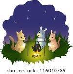 tea with friends | Shutterstock .eps vector #116010739