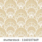 seamless decorative lace scales ... | Shutterstock .eps vector #1160107669