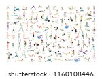 big set of people doing... | Shutterstock .eps vector #1160108446