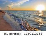 Beach Splashing Waves And...