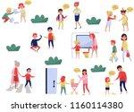 flat vector set of polite... | Shutterstock .eps vector #1160114380