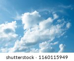 clouds in the blue sky | Shutterstock . vector #1160115949