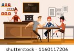 people in modern coffee shop or ... | Shutterstock .eps vector #1160117206