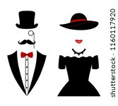 gentleman and lady icon... | Shutterstock .eps vector #1160117920