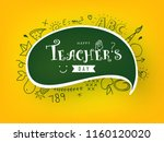 creative hand drawn doodle set... | Shutterstock .eps vector #1160120020