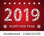 happy new year greeting card... | Shutterstock .eps vector #1160121193