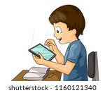 illustration of a kid boy with...   Shutterstock .eps vector #1160121340