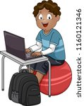 illustration of a kid boy... | Shutterstock .eps vector #1160121346