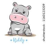 vector illustration of a cute ... | Shutterstock .eps vector #1160123209