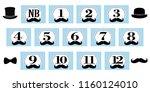 little man theme. 1 12 months ... | Shutterstock .eps vector #1160124010