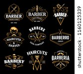 Barber Shop Retro Emblems In...