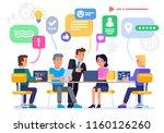 businessmen discuss social...   Shutterstock .eps vector #1160126260