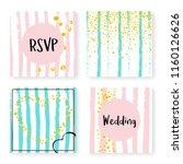 wedding glitter confetti on... | Shutterstock .eps vector #1160126626