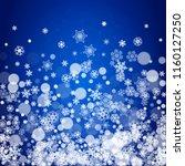 snowflake border for christmas...   Shutterstock .eps vector #1160127250